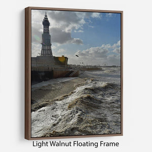 Stormy Blackpool Floating Frame Canvas - Canvas Art Rocks 7