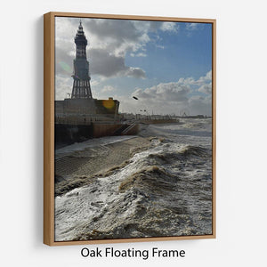 Stormy Blackpool Floating Frame Canvas - Canvas Art Rocks - 9