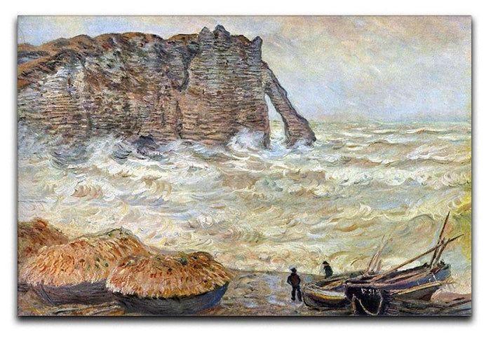 Stormy Sea La Porte d'Aval by Monet Canvas Print or Poster