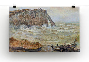 Stormy Sea La Porte d'Aval by Monet Canvas Print & Poster - Canvas Art Rocks - 2