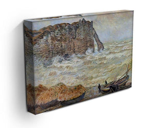 Stormy Sea La Porte d'Aval by Monet Canvas Print & Poster - Canvas Art Rocks - 3