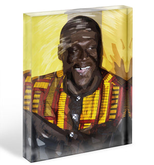 Stormzy Pop Art Acrylic Block - Canvas Art Rocks - 1