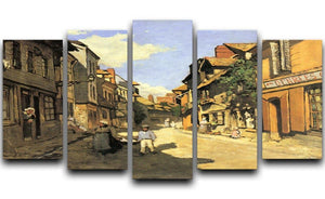Street of Bavolle 2 by Monet 5 Split Panel Canvas  - Canvas Art Rocks - 1