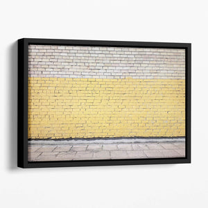 Street wall background Floating Framed Canvas