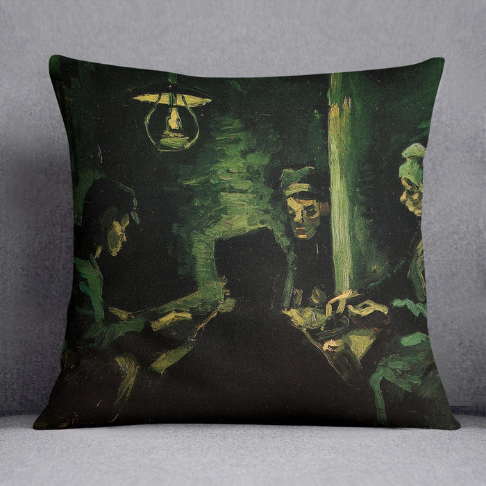 Study for The Potato Eaters by Van Gogh Throw Pillow
