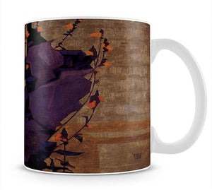 Stylized floral before decorative background style of life by Egon Schiele Mug - Canvas Art Rocks - 1