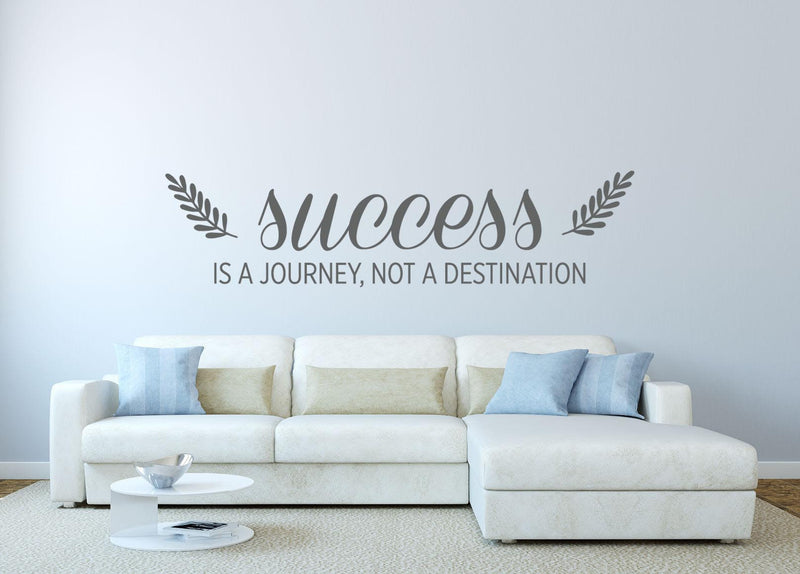 Success Is A Journey Wall Decal - Canvas Art Rocks - 1