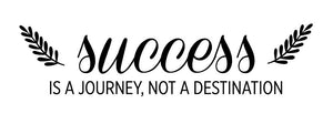 Success Is A Journey Wall Decal - Canvas Art Rocks - 2