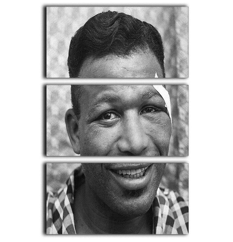 Sugar Ray Robinson Boxer 3 Split Panel Canvas Print - Canvas Art Rocks - 1