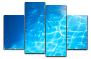 Summer beach background 4 Split Panel Canvas - Canvas Art Rocks - 1