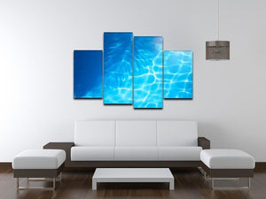 Summer beach background 4 Split Panel Canvas - Canvas Art Rocks - 3