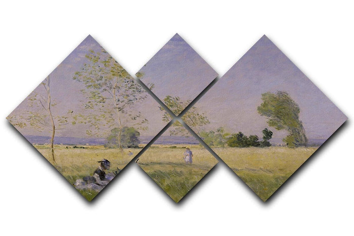 Summer by Monet 4 Square Multi Panel Canvas