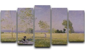 Summer by Monet 5 Split Panel Canvas  - Canvas Art Rocks - 1