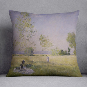 Summer by Monet Throw Pillow