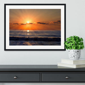 Sun rays over the bulgarian Black sea Framed Print - Canvas Art Rocks - 1