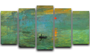 Sunrise by Monet 5 Split Panel Canvas  - Canvas Art Rocks - 1