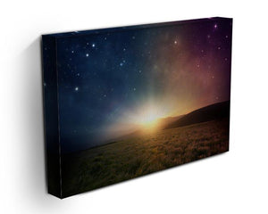 Sunrise with stars and galaxy in night Canvas Print or Poster - Canvas Art Rocks - 3