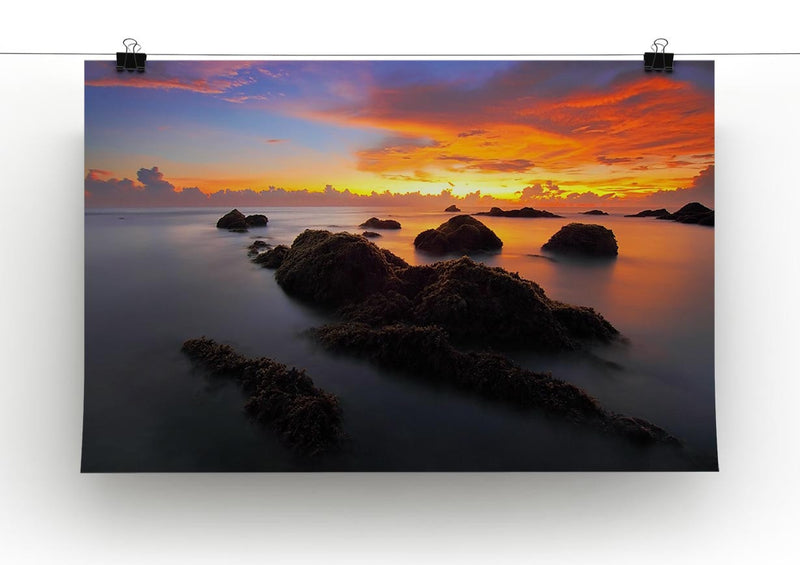 Misty Sunset Print - Canvas Art Rocks - 2