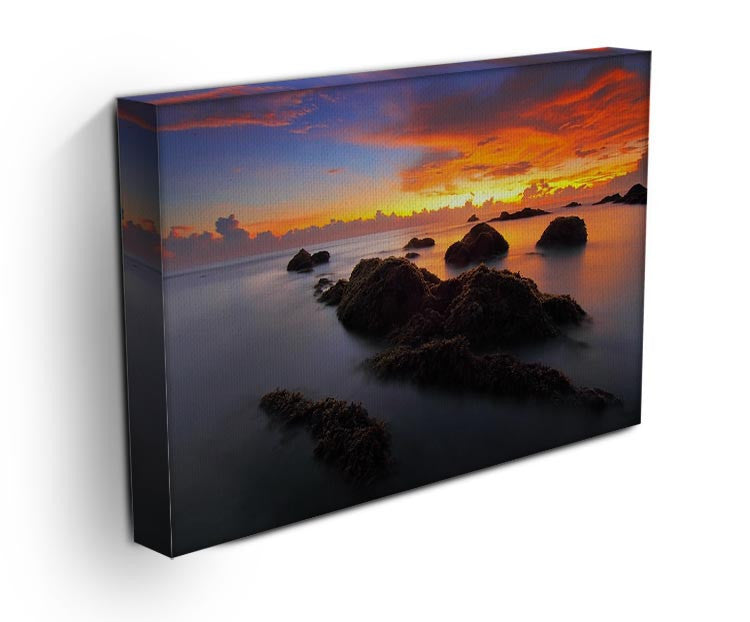 Misty Sunset Print - Canvas Art Rocks - 3