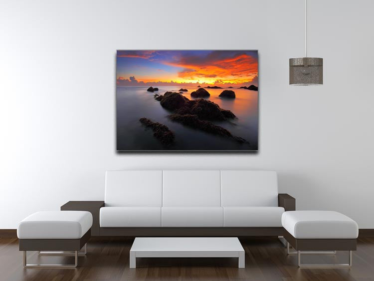 Misty Sunset Print - Canvas Art Rocks - 4