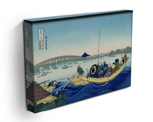 Sunset across the Ryogoku bridge by Hokusai Canvas Print or Poster - Canvas Art Rocks - 3