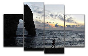 Sunset at Durdle Door 4 Split Panel Canvas - Canvas Art Rocks - 1