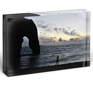 Sunset at Durdle Door Acrylic Block - Canvas Art Rocks - 1
