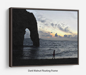Sunset at Durdle Door Floating Frame Canvas - Canvas Art Rocks - 5