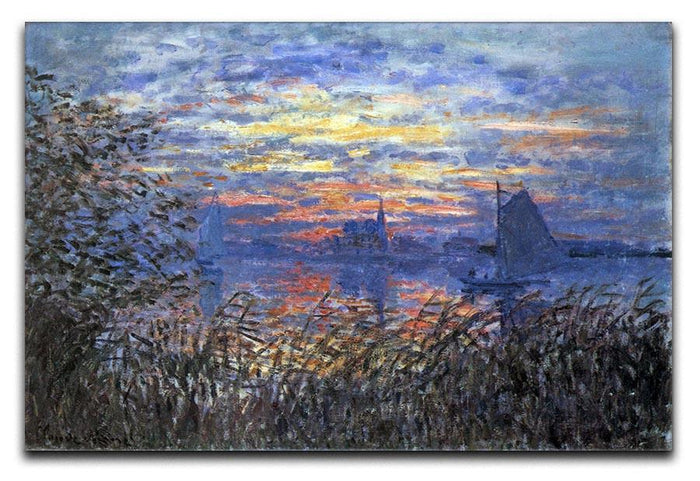 Sunset on the Seine by Monet Canvas Print or Poster