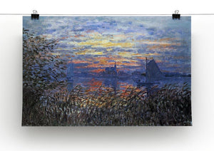 Sunset on the Seine by Monet Canvas Print & Poster - Canvas Art Rocks - 2