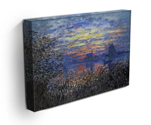 Sunset on the Seine by Monet Canvas Print & Poster - Canvas Art Rocks - 3
