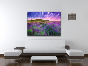 Sunset over a summer lavender field Canvas Print or Poster - Canvas Art Rocks - 4