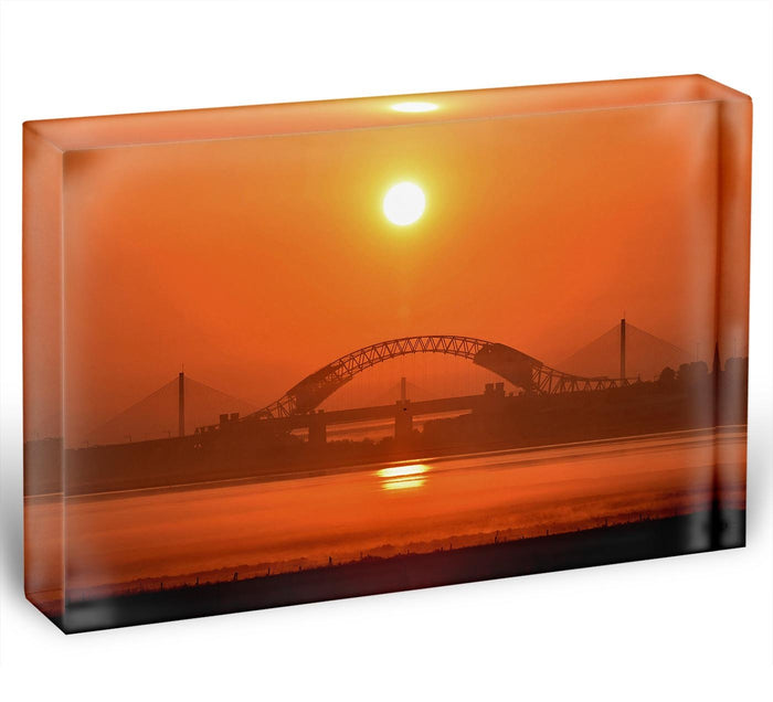 Sunset over the Mersey Acrylic Block