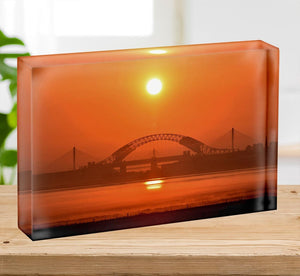 Sunset over the Mersey Acrylic Block - Canvas Art Rocks - 2