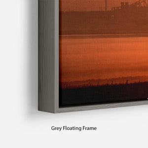 Sunset over the Mersey Floating Frame Canvas - Canvas Art Rocks - 4