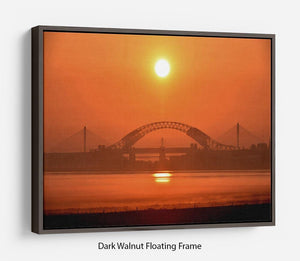 Sunset over the Mersey Floating Frame Canvas - Canvas Art Rocks - 5