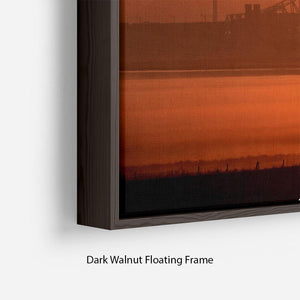 Sunset over the Mersey Floating Frame Canvas - Canvas Art Rocks - 6