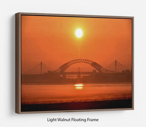 Sunset over the Mersey Floating Frame Canvas - Canvas Art Rocks 7
