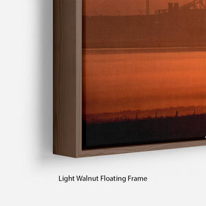Sunset over the Mersey Floating Frame Canvas - Canvas Art Rocks - 8