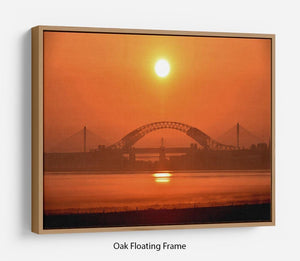 Sunset over the Mersey Floating Frame Canvas - Canvas Art Rocks - 9