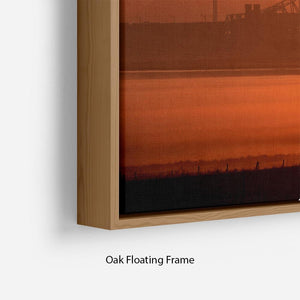 Sunset over the Mersey Floating Frame Canvas - Canvas Art Rocks - 10