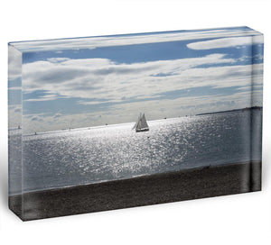 Sunshine on the sea Acrylic Block - Canvas Art Rocks - 1