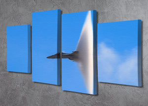 Super Hornet with transonic vapor cone 4 Split Panel Canvas  - Canvas Art Rocks - 2