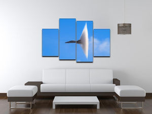 Super Hornet with transonic vapor cone 4 Split Panel Canvas  - Canvas Art Rocks - 3