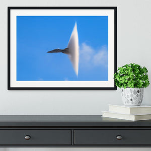 Super Hornet with transonic vapor cone Framed Print - Canvas Art Rocks - 1