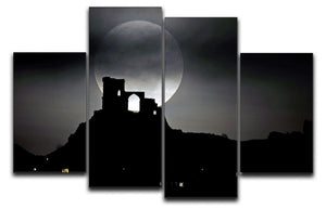 Super Moon at Mow Cop 4 Split Panel Canvas - Canvas Art Rocks - 1