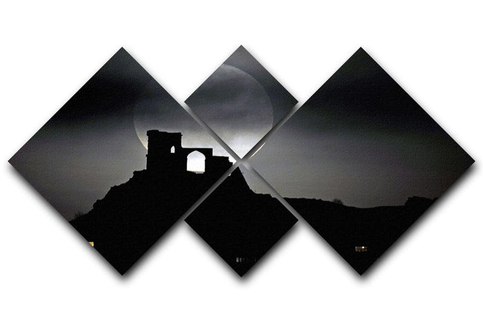 Super Moon at Mow Cop 4 Square Multi Panel Canvas