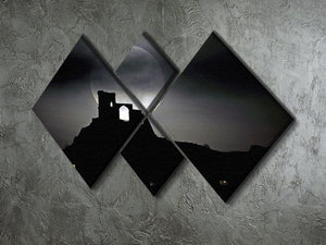 Super Moon at Mow Cop 4 Square Multi Panel Canvas - Canvas Art Rocks - 2