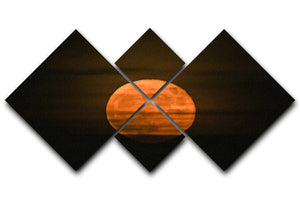 Super moon 4 Square Multi Panel Canvas - Canvas Art Rocks - 1