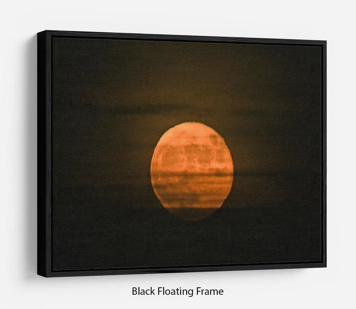 Super moon Floating Frame Canvas